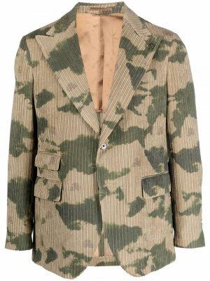 Пиджак с камуфляжным принтом Gabriele Pasini. Цвет: зеленый