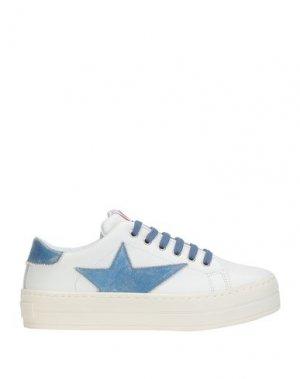 Низкие кеды и кроссовки FORNARINA. Цвет: синий