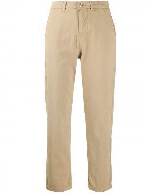 Укороченные брюки прямого кроя 7 For All Mankind. Цвет: нейтральные цвета