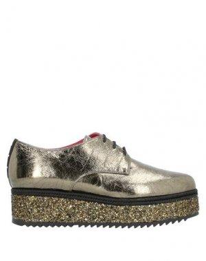 Обувь на шнурках 181 by ALBERTO GOZZI. Цвет: зеленый-милитари