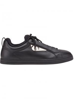 Кроссовки на шнуровке Bag Bugs Fendi. Цвет: черный