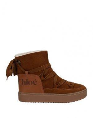 Полусапоги и высокие ботинки SEE BY CHLOÉ. Цвет: верблюжий
