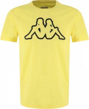 Футболка мужская , размер 48 Kappa. Цвет: желтый