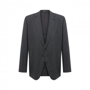 Шерстяной пиджак Windsor. Цвет: серый