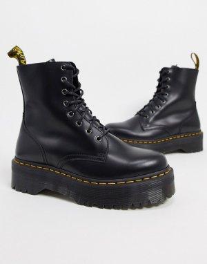 Черные ботинки на платформе с 8 парами люверсов Jadon-Черный Dr Martens