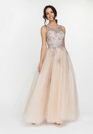 Платье Gloss. Цвет: бежевый