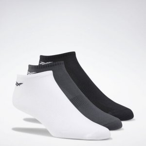 Носки One Series Training, 3 пары Reebok. Цвет: white / gravel / black