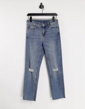 Голубые суперзауженные джинсы Еdiе-Голубой Dr Denim