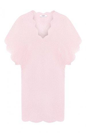 Хлопковая туника Marysia. Цвет: розовый