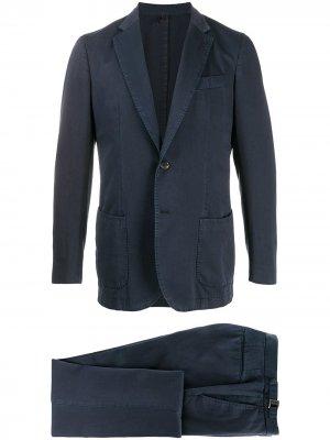 Delloglio костюм с однобортным пиджаком Dell'oglio. Цвет: синий