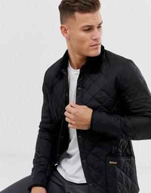 Черная стеганая куртка -Черный цвет Barbour