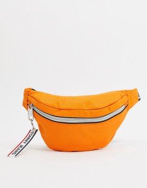 Сумка-кошелек на пояс с логотипом -Оранжевый Tommy Jeans