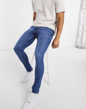 Синие выбеленные джинсы скинни Core-Бежевый Criminal Damage