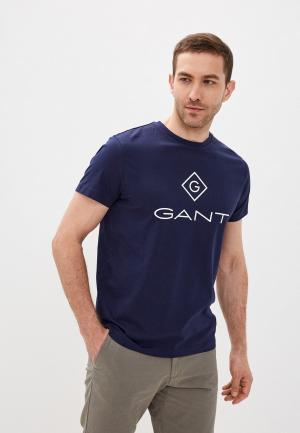 Футболка Gant. Цвет: синий