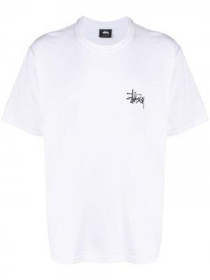 Logo print T-shirt Stussy. Цвет: белый