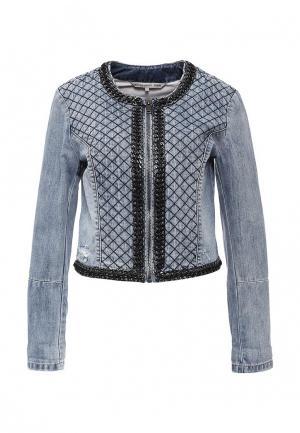 Куртка джинсовая Silvian Heach. Цвет: синий