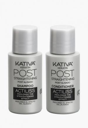 Набор для ухода за волосами Kativa IRON FREE выпрямления Уход тусклых волос. Цвет: прозрачный