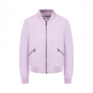 Кожаная куртка Alice + Olivia. Цвет: фиолетовый