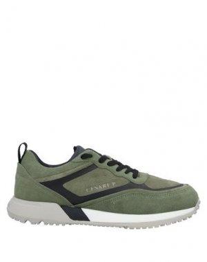 Низкие кеды и кроссовки CESARE PACIOTTI. Цвет: зеленый-милитари