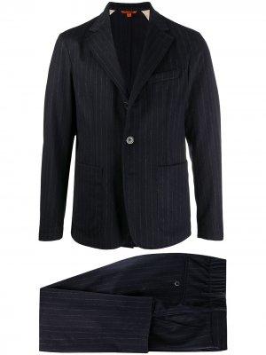 Полосатый костюм с однобортным пиджаком Barena. Цвет: синий