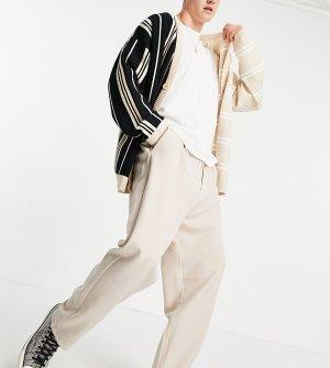Бежевые свободные классические брюки унисекс (от комплекта) Inspired-Серый Reclaimed Vintage