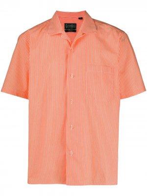 Полосатая рубашка Gitman Vintage. Цвет: оранжевый