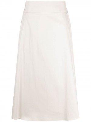 S Max Mara юбка А-силуэта с завышенной талией 'S. Цвет: нейтральные цвета