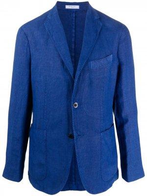 Пиджак с заостренными лацканами Boglioli. Цвет: синий