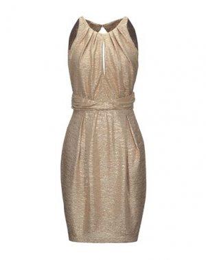 Короткое платье ANNARITA N. Цвет: золотистый