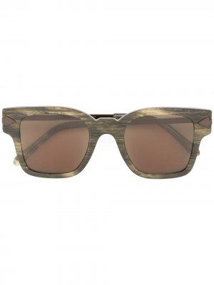 Солнцезащитные очки Julius Karen Walker. Цвет: коричневый
