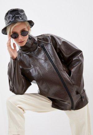 Куртка кожаная Bimba Y Lola. Цвет: коричневый