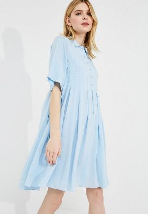Платье Carven. Цвет: голубой