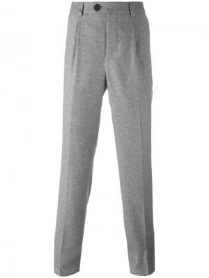 Классические брюки кроя слим Brunello Cucinelli. Цвет: серый