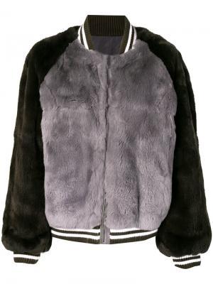 Куртка бомбер Liska. Цвет: серый