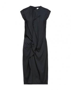 Платье миди CARVEN. Цвет: черный