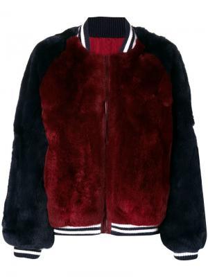 Куртка бомбер Liska. Цвет: красный