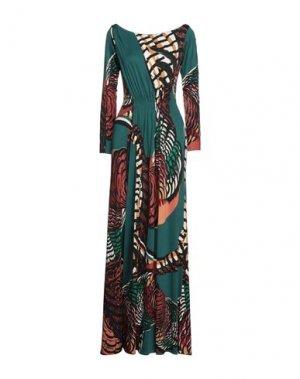 Длинное платье ISSA. Цвет: зеленый