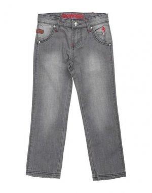 Джинсовые брюки FERRARI. Цвет: серый
