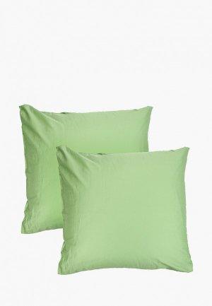 Комплект наволочек Dream Time 70х70 см. Цвет: зеленый