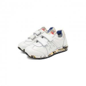 Кожаные кроссовки с застежками велькро Premiata will be. Цвет: белый