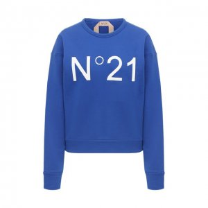 Хлопковый свитшот N21. Цвет: синий
