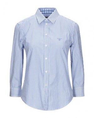 Pубашка GANT. Цвет: лазурный