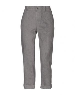 Повседневные брюки CARE LABEL. Цвет: серый