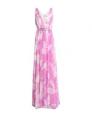 Длинное платье HALSTON. Цвет: розовато-лиловый