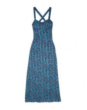 Длинное платье ANNA SUI. Цвет: синий