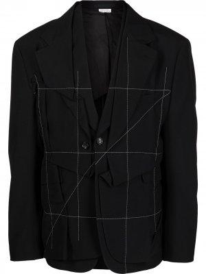 Деконструированный пиджак Comme Des Garçons Homme Plus. Цвет: черный