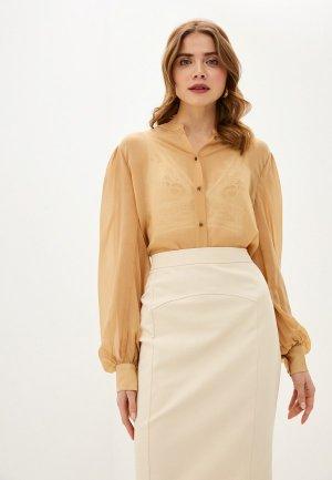 Блуза Ketroy. Цвет: бежевый