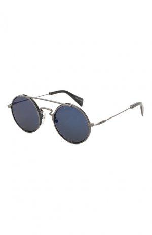 Солнцезащитные очки Yohji Yamamoto. Цвет: темно-серый