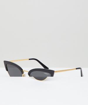 Черные солнцезащитные очки кошачий глаз Vogue Eyewear-Черный цвет