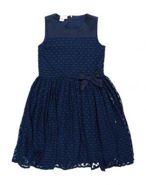 Платье iDO by MINICONF. Цвет: темно-синий